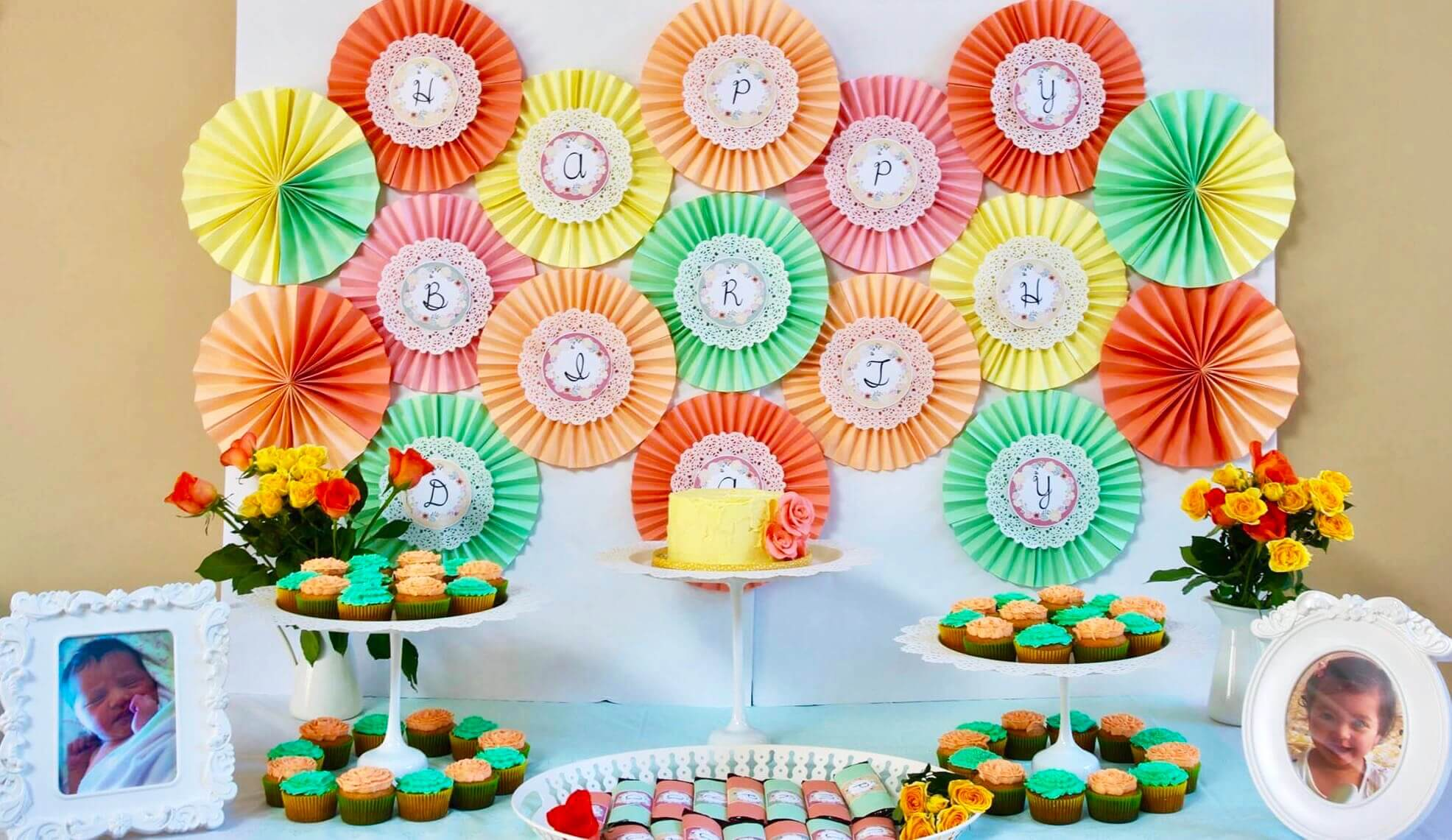 Vintage modern birthday party
