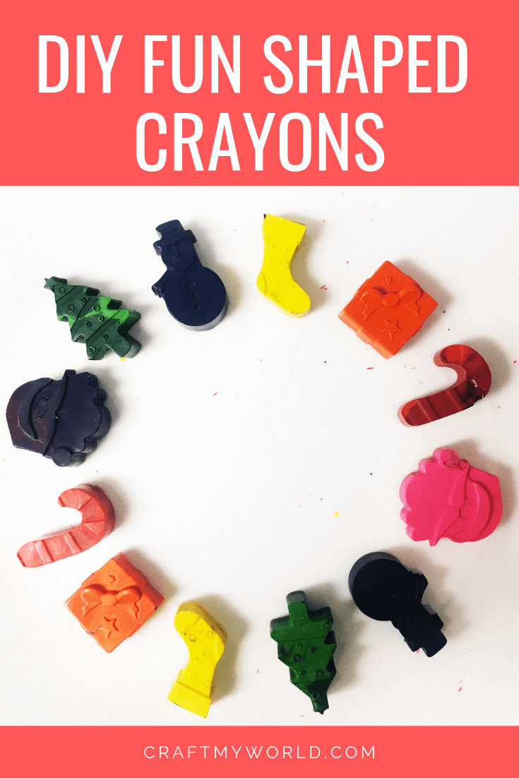 DIY fun shaped crayons done in microwave