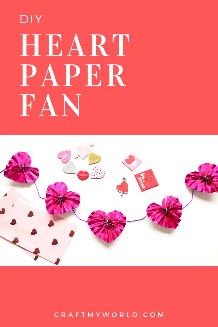 Heart paper fan tutorial with free pattern