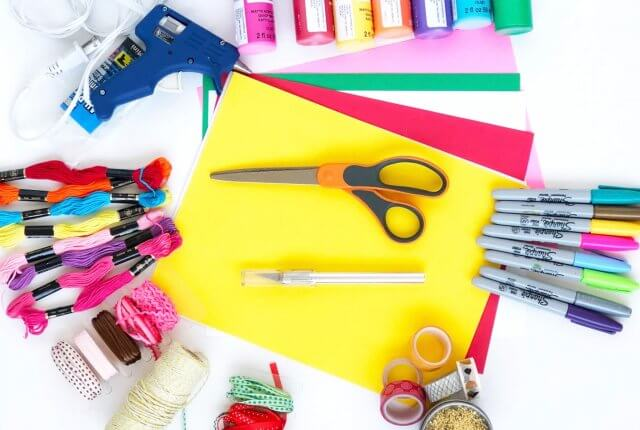 All the beginner craft supplies are listed here