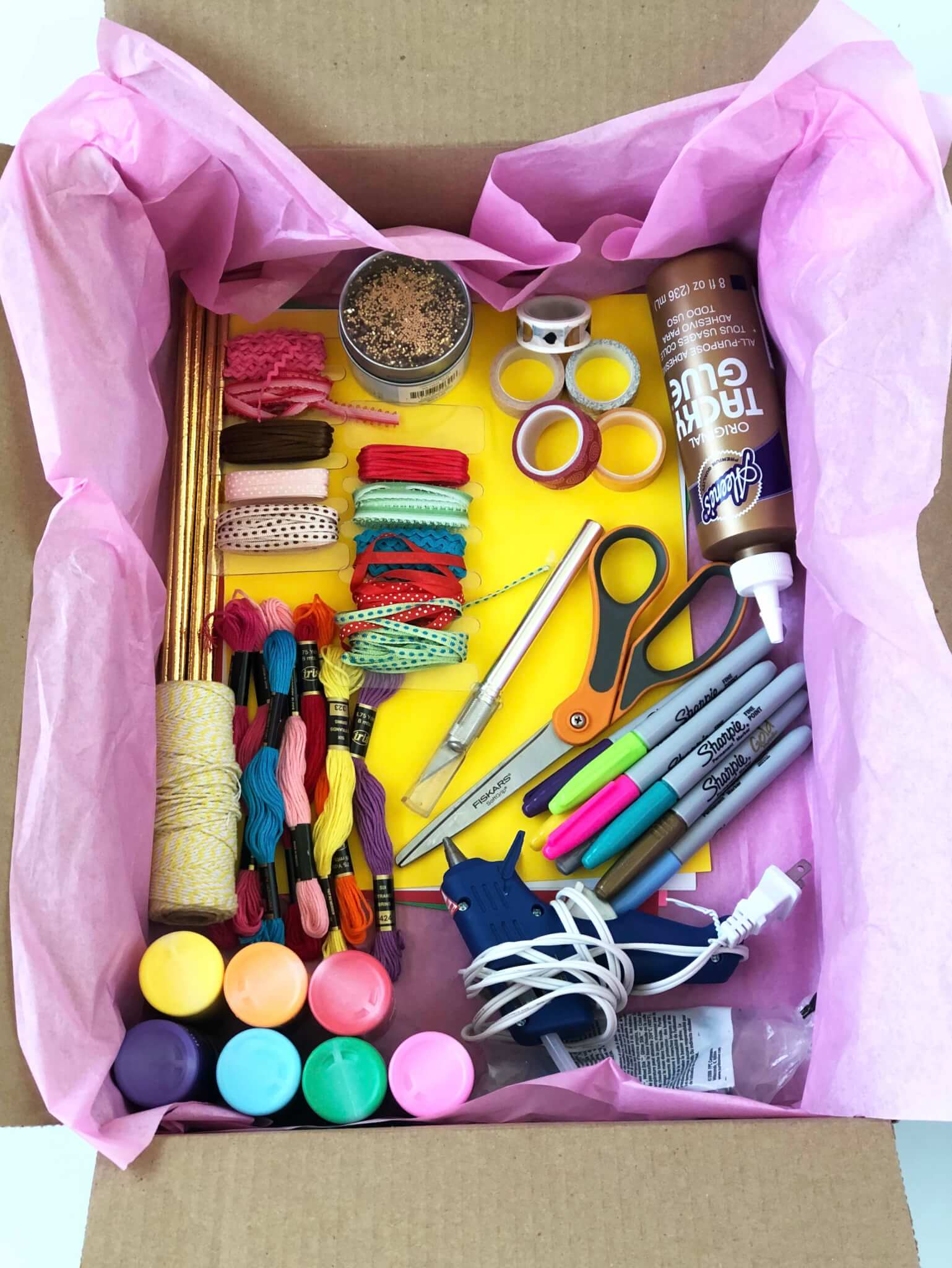 Gift box with all the Craft supplies for beginner crafters