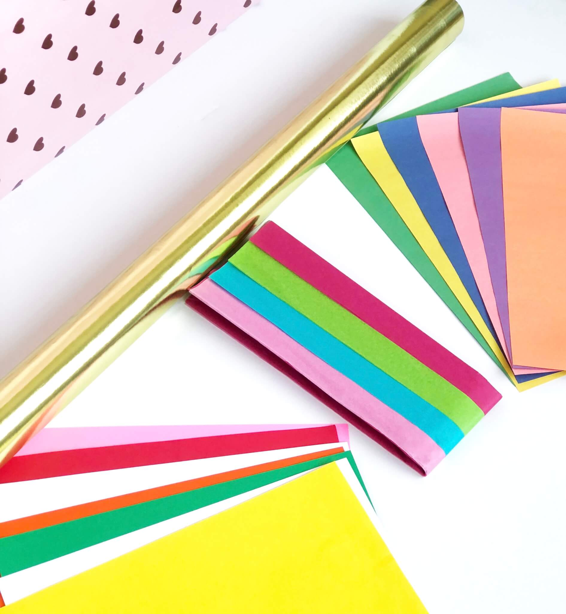 Craft supply Card stock paper, tissue paper, construction paper and gift wrap paper