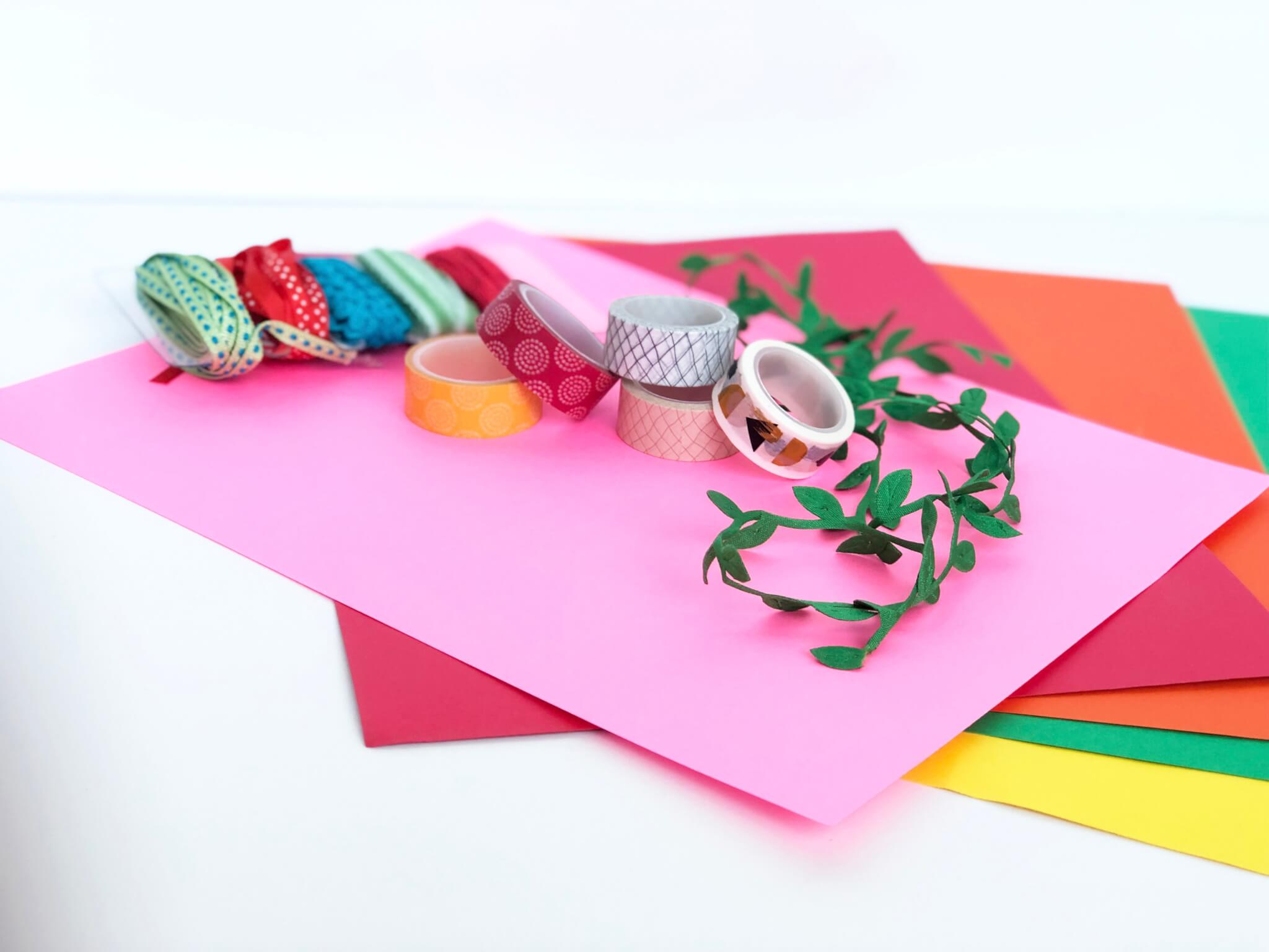 Craft supply with washi tapes