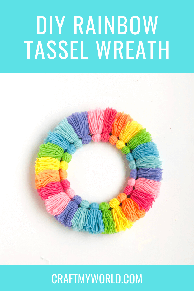 Tassel wreath pin