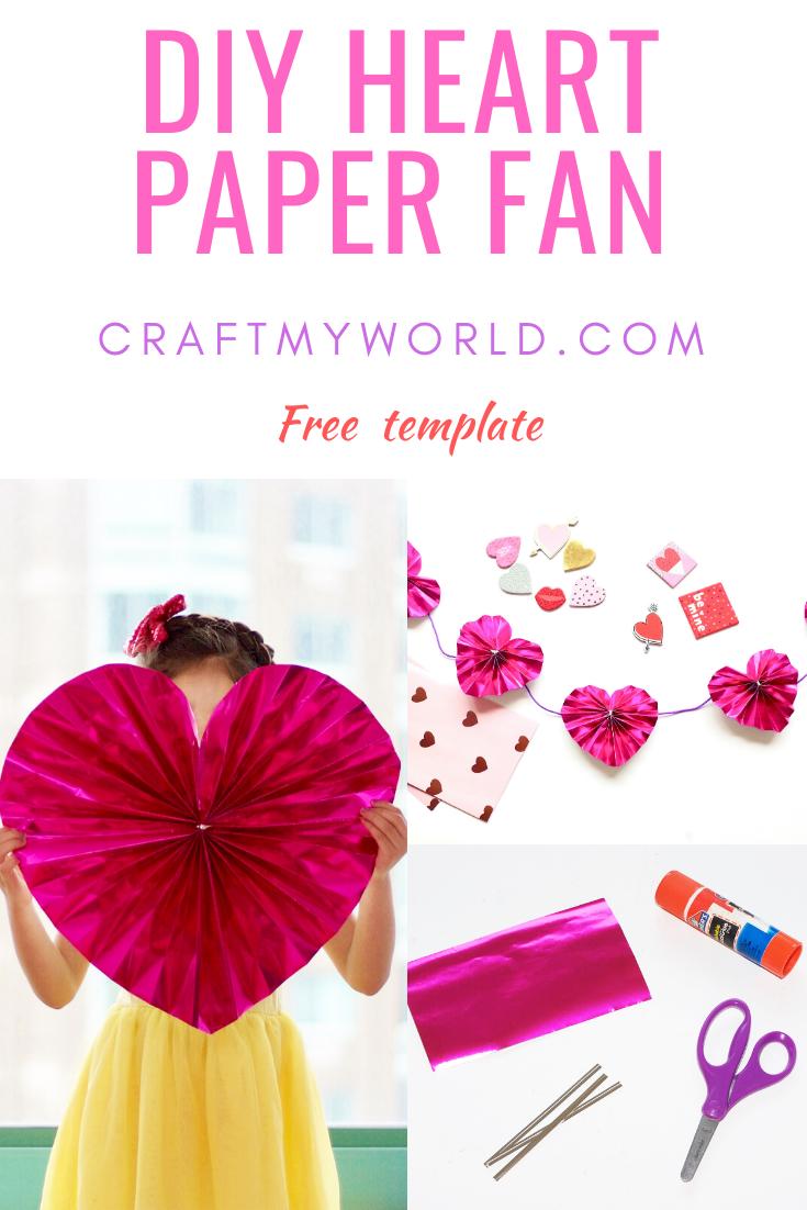 DIY Heart paper fan tutorial