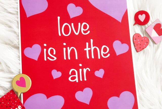 Valentine's day free printable art