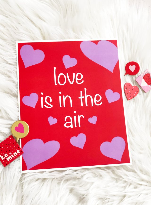 Valentine's day free printable art