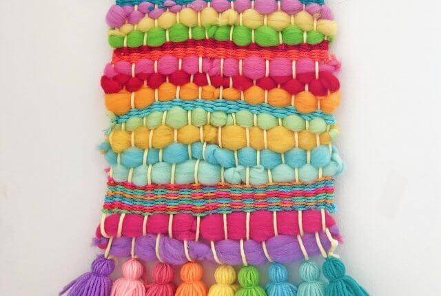 DIY Rainbow Weaving