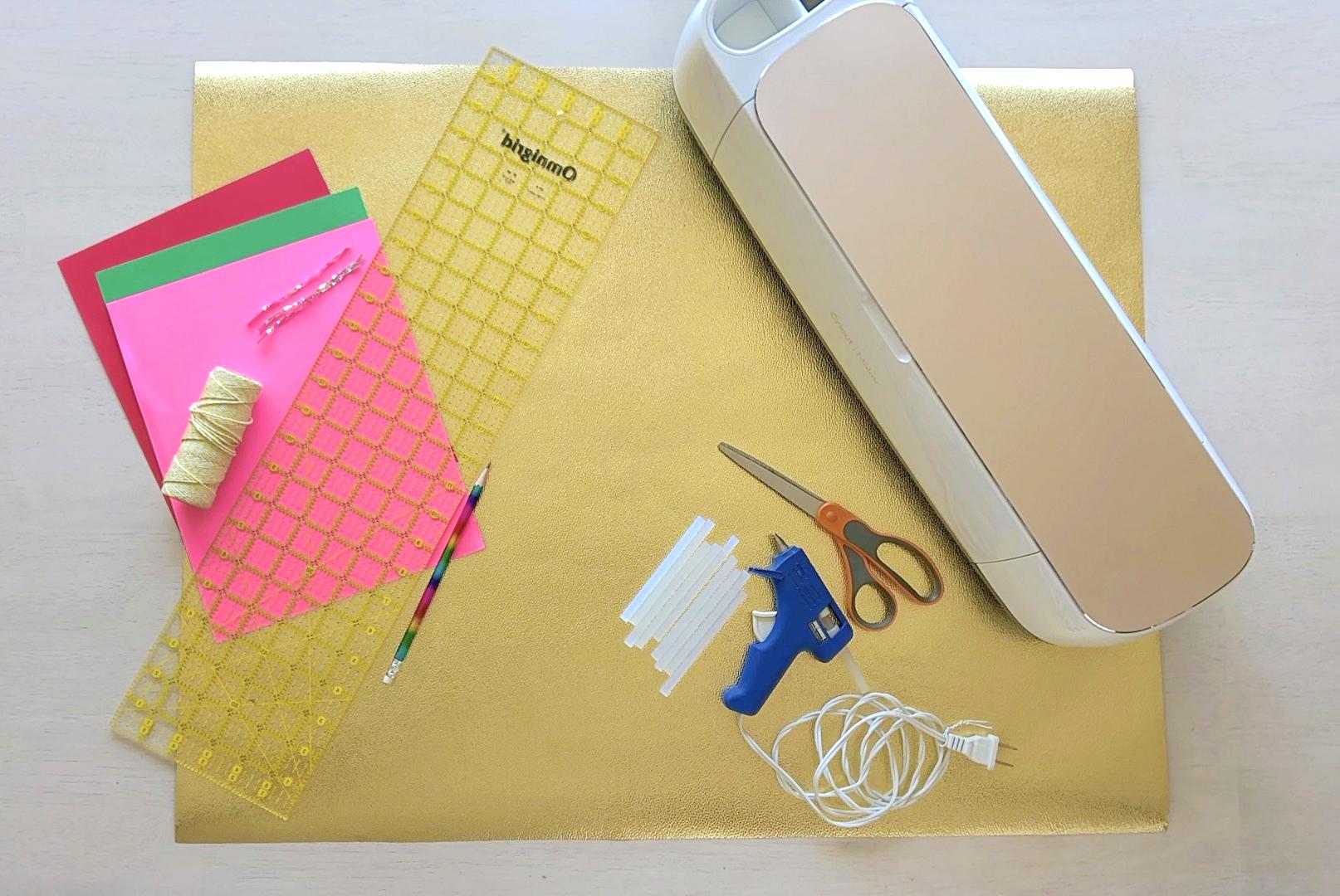 DIY star paper fan material list