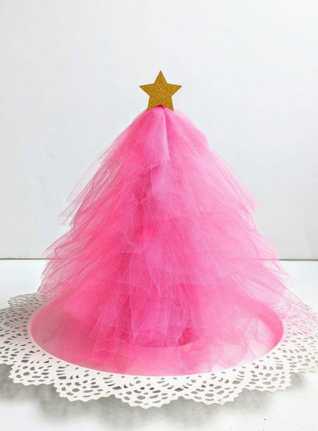 DIY Tulle Christmas Tree Cone