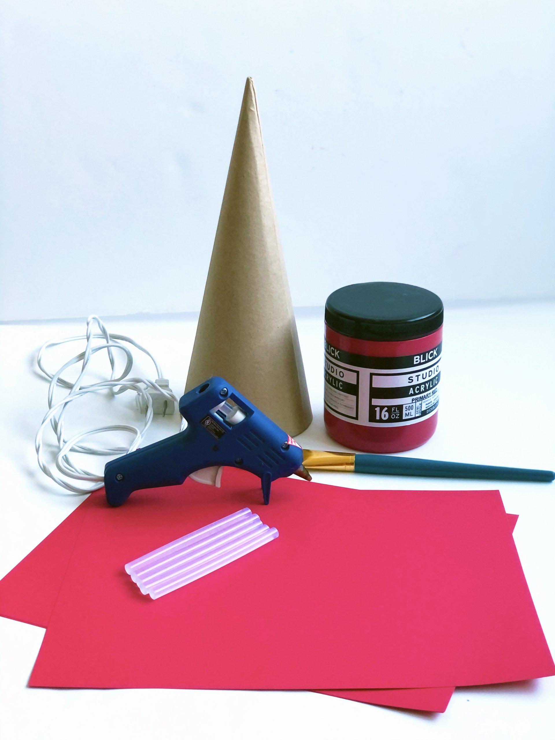 DIY paper flower Christmas tree cone material list
